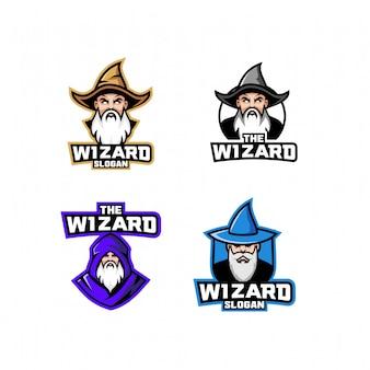 Набор старого волшебного логотипа