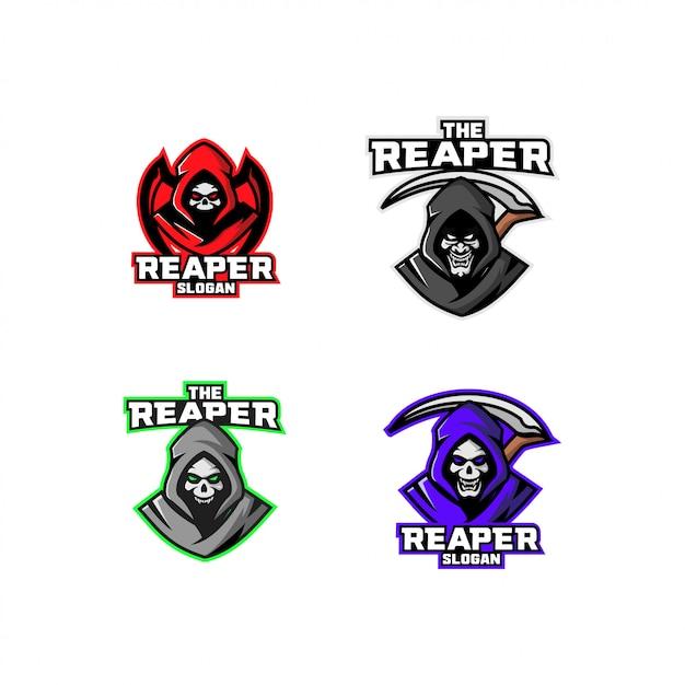 Набор логотипов мрачного жнеца