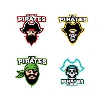 Набор пиратского логотипа