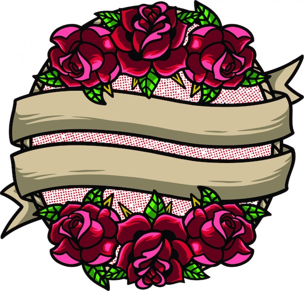 Олдскул цветочная рамка