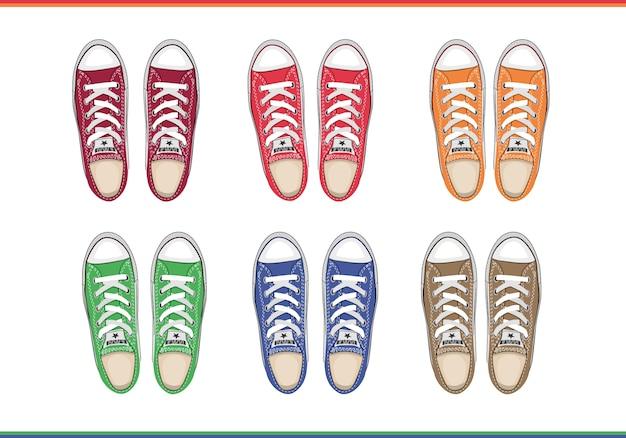 男性の靴のトップビュー