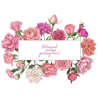 Ручной обращается векторная иллюстрация цветок