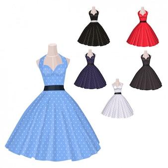 古いスタイルのドレスコレクション