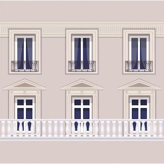 Парижский фасад иллюстрация