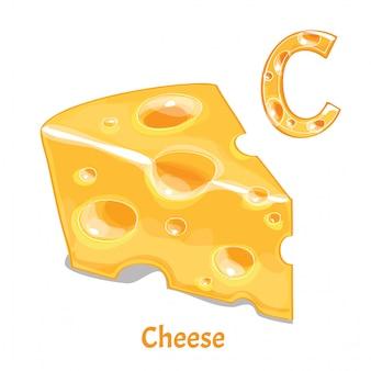 Алфавит, буква с сыра
