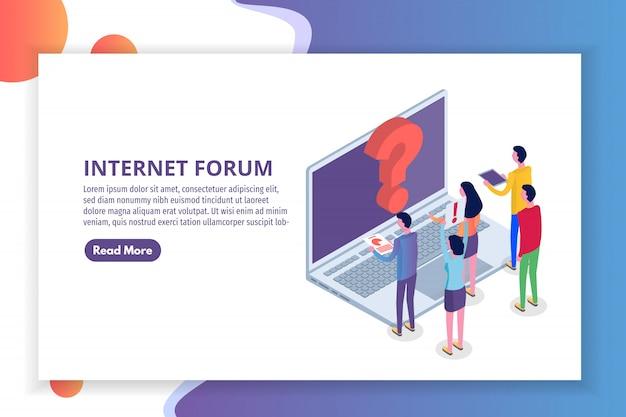 インターネットフォーラム、コミュニケーションの人々、社会等尺性概念。図