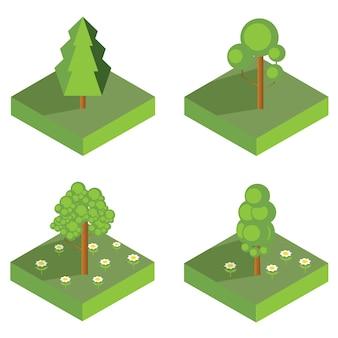 Изометрические дерево