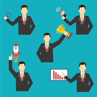 Набор иконок бизнесмена