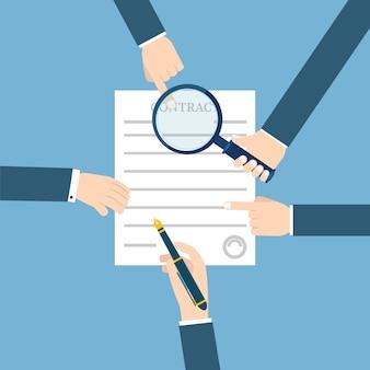 Подготовка бизнес контракта.