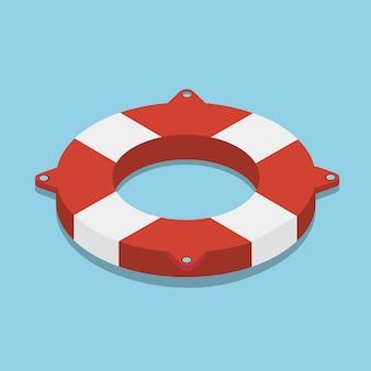 Спасательный круг значок изометрии