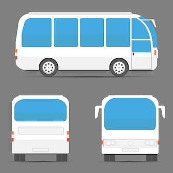 白いバスの景色