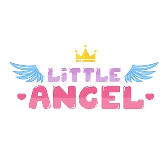 小さな天使のレタリング