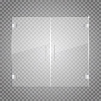 透明ガラス扉