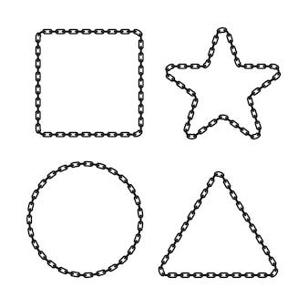 幾何学的形状のチェーンフレーム