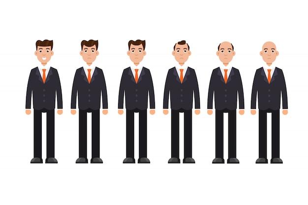 男性の頭のはげの種類