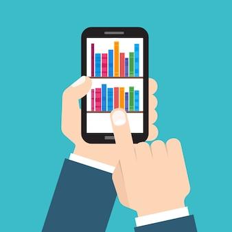 デジタルのオンライン書店、図書館、電子書籍のコンセプト。フラットスタイルのイラスト。
