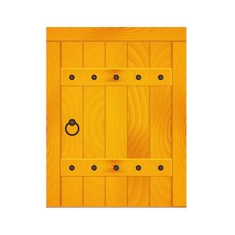 中世の木製のドア