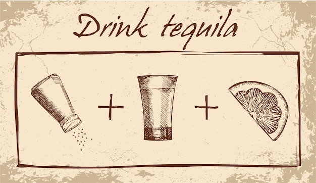 Напиток текила баннер