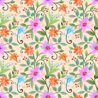 色とりどりの花のベクトルデザインパターン