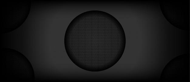 金属円と抽象的な黒の背景