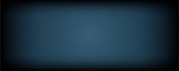 抽象的な青い六角形の背景