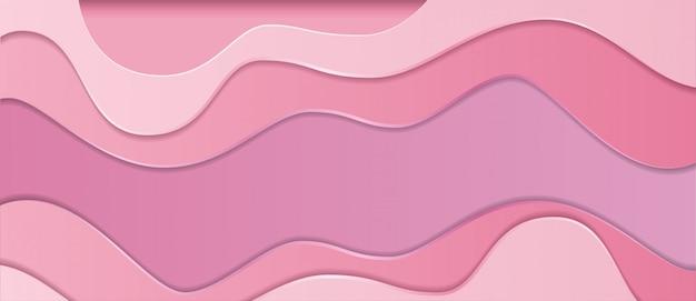 抽象的な現実的なピンクの紙カットスライムの背景
