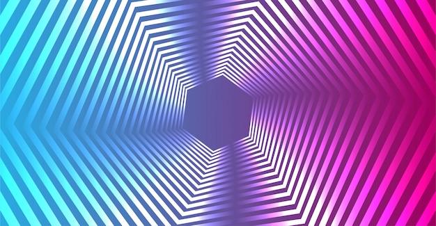 抽象的なグラデーションの幾何学的なラインの背景