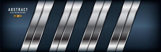 抽象的な現代銀リスト暗いバナーの背景