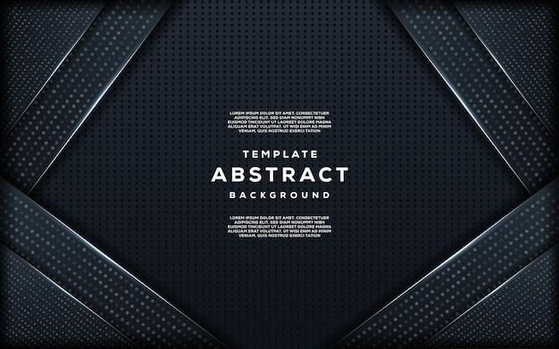 暗い背景の抽象的な創造的なトレンディなシルバーラメとオーバーラップ層