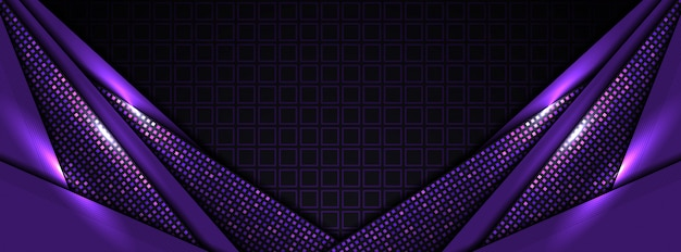 モダンなハイテク紫の抽象的な背景