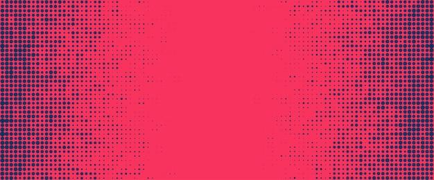 赤と紫のハーフトーンドット空の背景