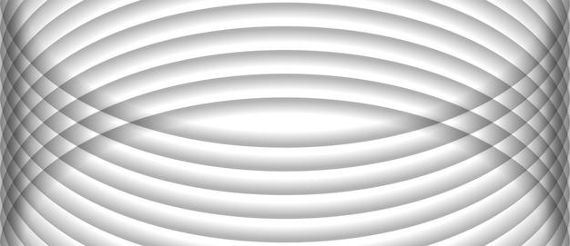 抽象的なストライプパターン水平曲線ラインホワイトグレーバックグラウンドテクスチャ