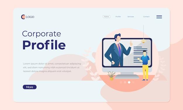 Офисная сцена для целевой страницы или веб-баннера