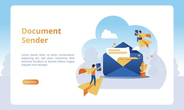 Отправителя документа для бизнес-целевых страниц
