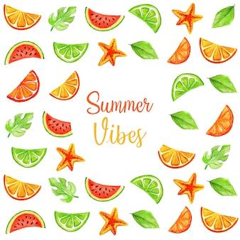 夏の装飾的な背景