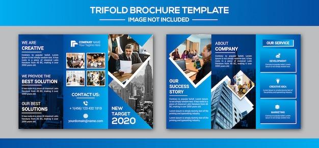 Корпоративный бизнес три раза дизайн брошюры
