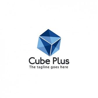 キューブ会社のロゴテンプレート