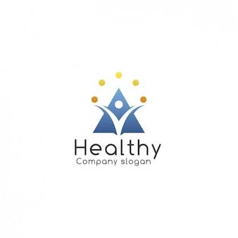 保健会社のロゴテンプレート