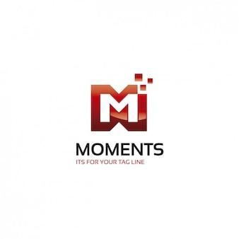 赤の会社のロゴのテンプレート