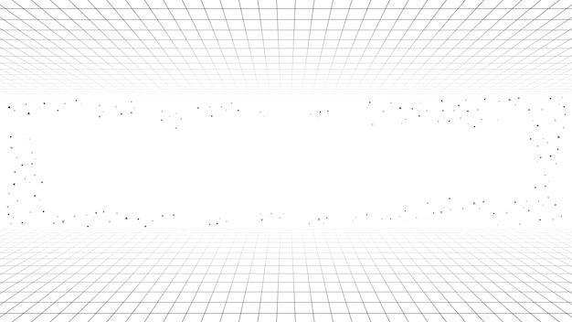 Монохромный минимальный фон ретро линии, стиль футуристический синтезатор ретро волны