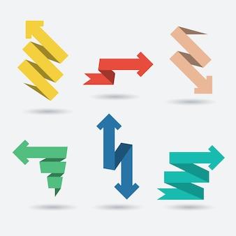 Набор бумаги для оригами стрелки