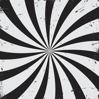 ラジアル光線グランジ黒と白の背景