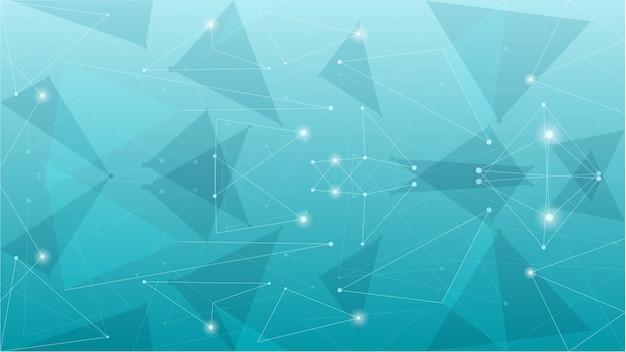 抽象的な幾何学的な青い多角形の背景