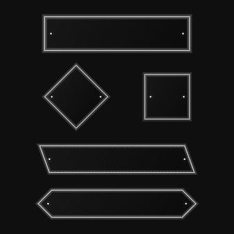分離された白のネオンと最小限のシンプルな幾何学的図形