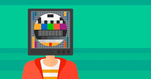 Человек с головой телевизора.