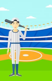 Бейсболист с битой