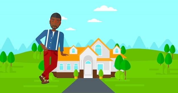 家を提供する不動産業者。