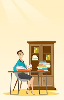 学生読書本のベクトル図です。