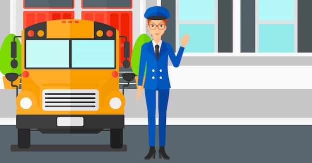 スクールバスの運転手。