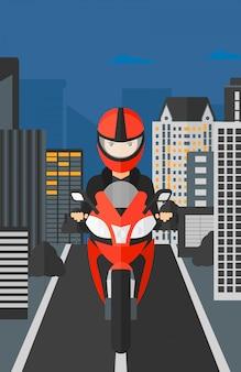 女性乗馬バイク。